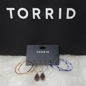 New! TORRID Earrings 3 Pairs